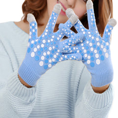 Stylish Touch Screen Gloves - Gifts Are Blue - 2