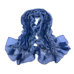 Blue Autumn/Winter Womens Scarf - Gifts Are Blue - 5