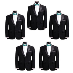 Mens Smooth Satin Feel Formal Pre-Tied Bow Tie Sets