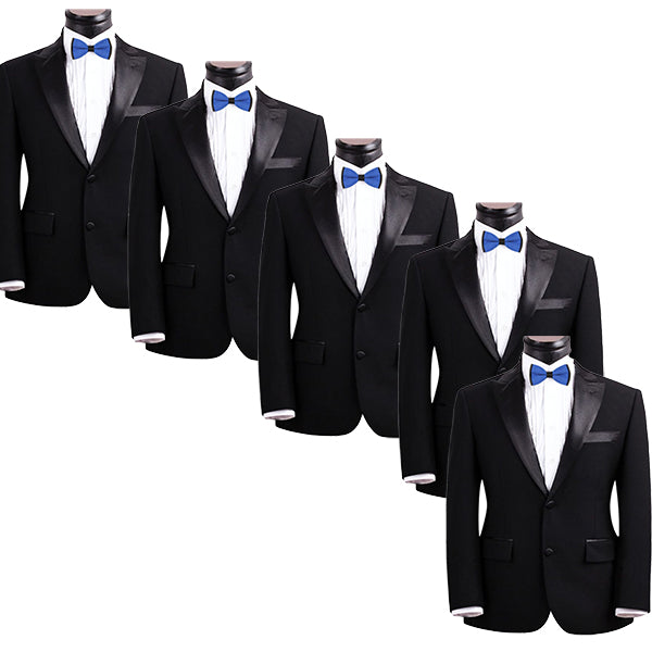 Mens Blue and Black Formal Event Pre-Tied Bow Ties Sets