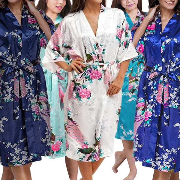 Medium Length Womens Kimono Robe - all SKUs