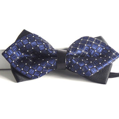 Blue Pre-Tied Diamond Point Formal Bow Ties - Gifts Are Blue - 3