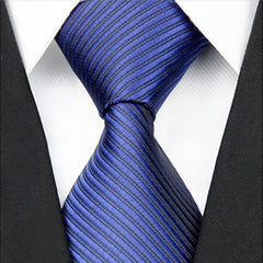 Mens Blue On Blue Striped Necktie, Wide Width - Gifts Are Blue