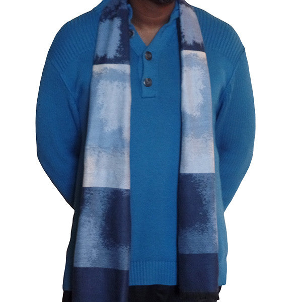 Mens Elegant Fashion Winter Scarves - Gifts Are Blue - 4