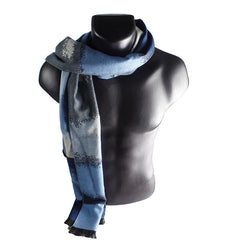 Mens Elegant Fashion Winter Scarves - Gifts Are Blue - 2