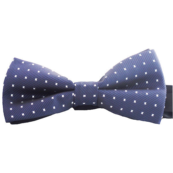 Mens Blue Pre-Tied Bow Tie for Events or Business, Blue with Polka Dots - Gifts Are Blue