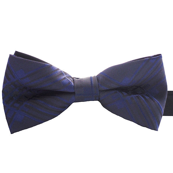 Mens Blue Pre-Tied Bow Tie for Events or Business, Blue and Black - Gifts Are Blue
