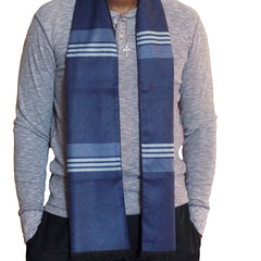 Mens Elegant Fashion Winter Scarves - Gifts Are Blue - 5