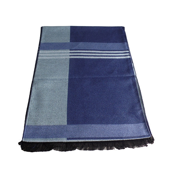 Mens Elegant Fashion Winter Scarves - Gifts Are Blue - 7. Blue Stripes