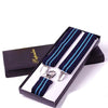 Unisex Designer Blue Suspenders - Gifts Are Blue - 1