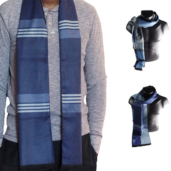 Mens Elegant Fashion Winter Scarves - Gifts Are Blue - 1, all SKUs