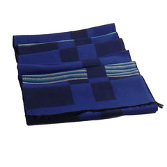 Stylish Mens All Seasons Viscose Cotton Blue Scarf - Gifts Are Blue - 3