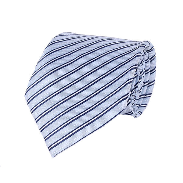 Mens Formal Slim Arrow Designer Blue Tie, SA26 - Gifts Are Blue