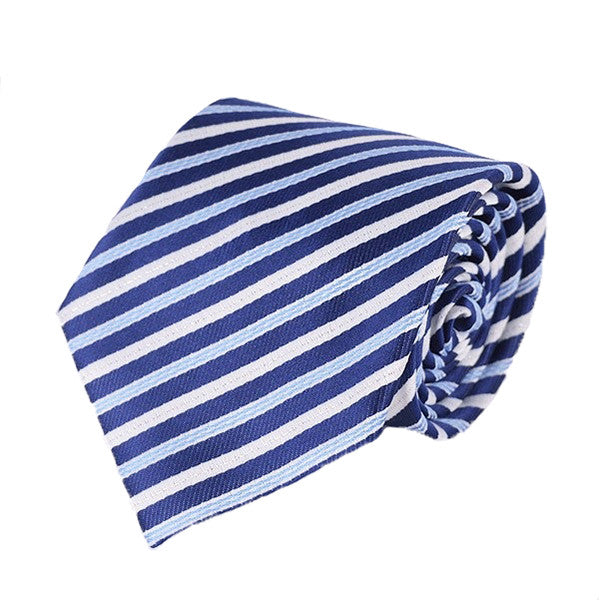 Mens Formal Slim Arrow Designer Blue Tie, SA28 - Gifts Are Blue