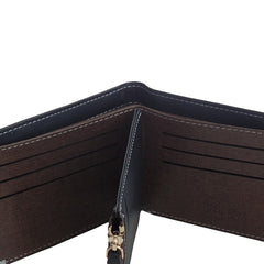 Mens Wallet with Zipper Compartment and 8 Card Slots - Gifts Are Blue - 3