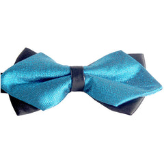 Blue Pre-Tied Diamond Point Formal Bow Ties - Gifts Are Blue - 4
