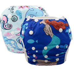 2 Pack Leakproof Reusable Swim Diapers, 0 to 3 years - Gifts Are Blue - 5