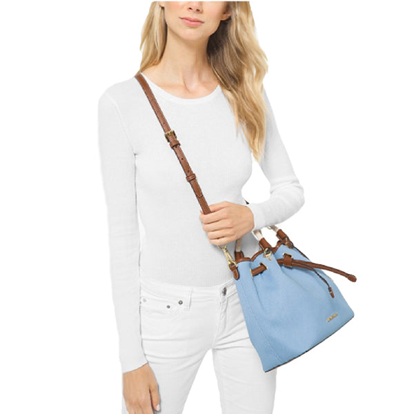 Blakely Large Canvas Bucket Bag by MICHAEL Michael Kors, 35T0GZLL3C, Model, Blue