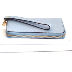 Michael Kors Fulton Large Flat Multi Function Leather Phone Case Pale Blue - Gifts Are Blue - 4