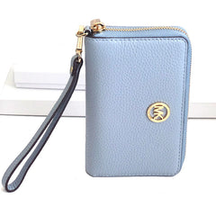 Michael Kors Fulton Large Flat Multi Function Leather Phone Case Pale Blue - Gifts Are Blue - 2