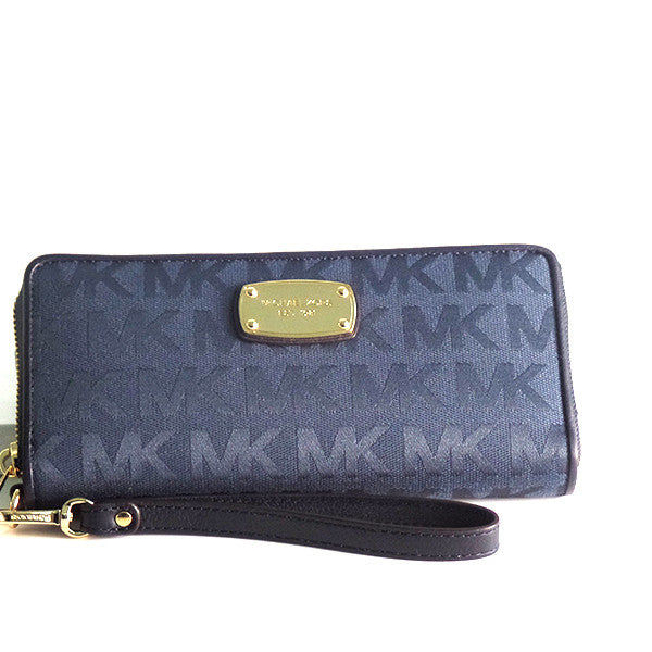 c1dca6412976a Michael Kors Jet Set Travel Continental Wristlet Wallet - Gifts Are Blue - 1