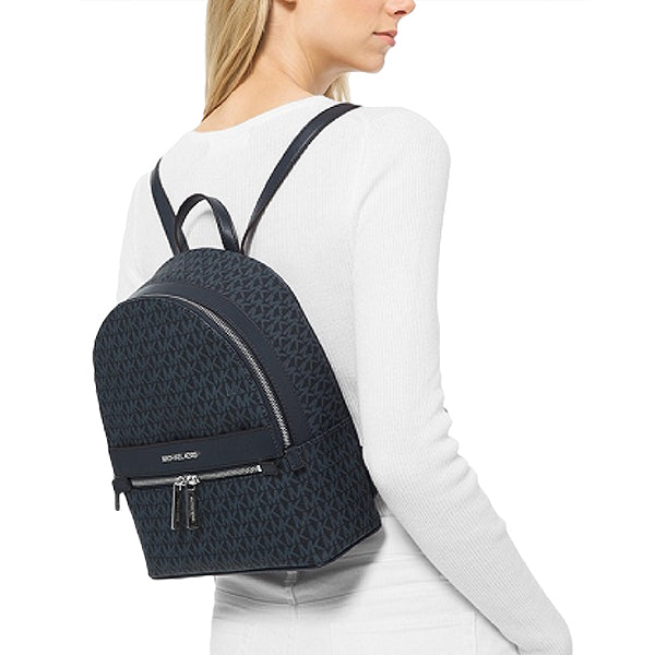 Womens Kenly Medium Logo Backpack, Michael Kors, 35T0SY9B6B, Model, Admiral Blue