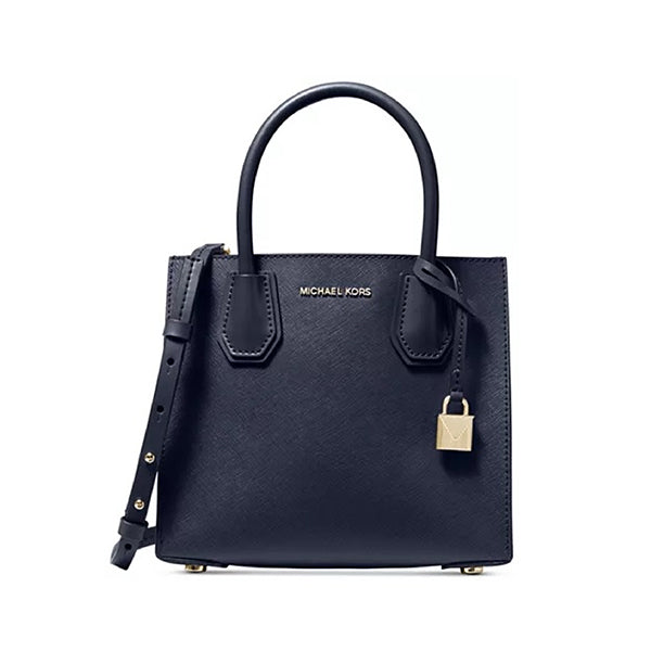 Mercer Medium Saffiano Leather Accordion Crossbody Bag, MICHAEL Michael Kors, 30S0GM9M6L, Main, Navy Blue