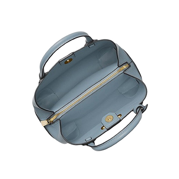 Mercer Gallery Small Pebbled Leather Satchel by MICHAEL Michael Kors, 30H7GZ5T1T, Inside, Pale Blue