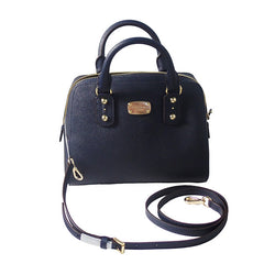 Michael Kors Small Satchel Saffiano Navy Leather Handbag - Gifts Are Blue - 4