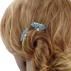 Mini Tiaras Hair Comb Accessory for Wedding / Pageant / Special Occasion - Gifts Are Blue - 2