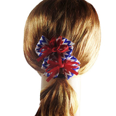 Americana Hair Bows for Girls and Teams - Gifts Are Blue - 4