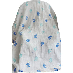 4 Pack Multiple Uses Pre-Washed Muslin Cotton Swaddle Blankets, Large, 47 x 47 - Gifts Are Blue - 4