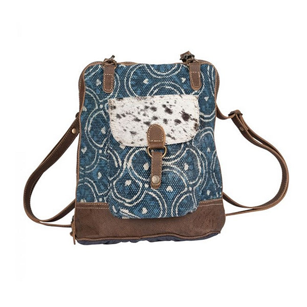 Blue Aurora Backpack Bag, Medium, Myra Bag S-2229, Main