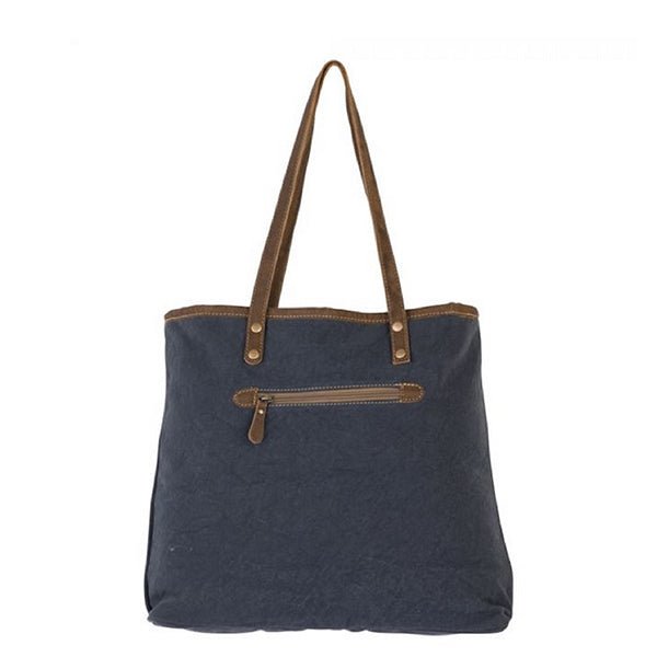 Dainty Lady Tote Bag, Large, Myra Bags, S-2184, Back view