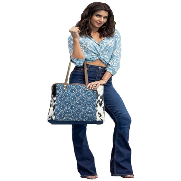 Dainty Lady Tote Bag, Large, Myra Bags, S-2184, Model