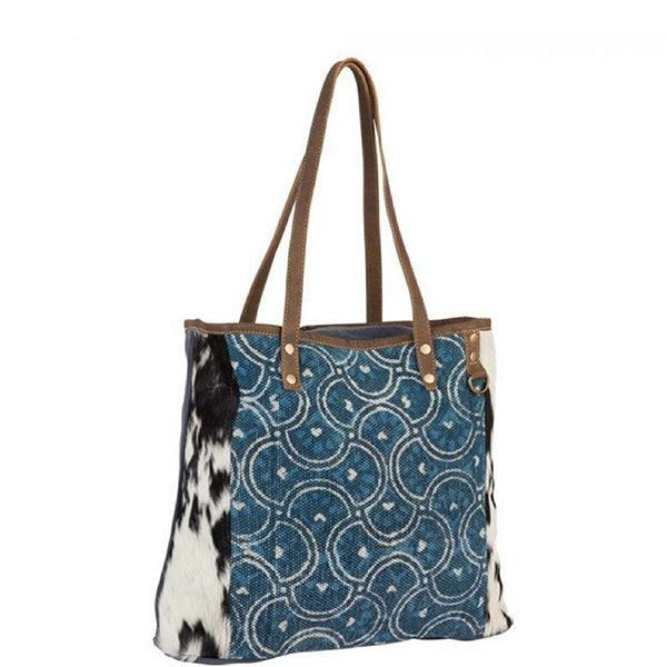 Dainty Lady Tote Bag, Large, Myra Bags, S-2184, Side view