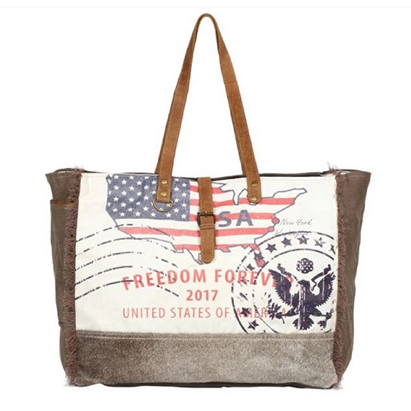 Myra Bags Freedom Forever Partisan Weekender Bag, Xlarge Capacity - S-1273, Alternate
