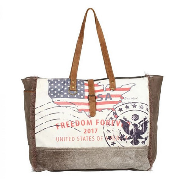 Myra Bags Freedom Forever Partisan Weekender Bag, Xlarge Capacity - S-1273, Main