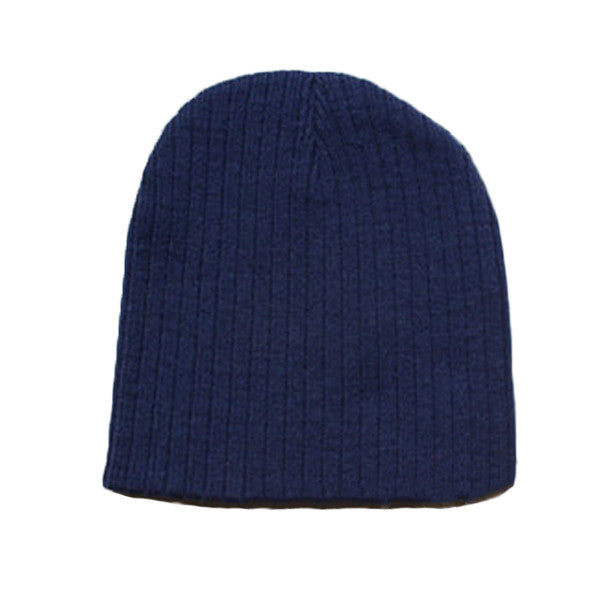 Little Kids Blue Beanie Hat - Gifts Are Blue - 5, Navy Blue