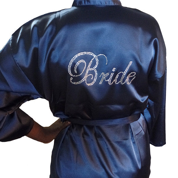 Bride Robe with Rhinestones, M, XL, 2XL - Gifts Are Blue - 1