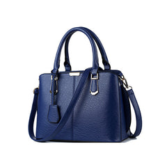 Womens Navy Blue Medium Handbag - Gifts Are Blue