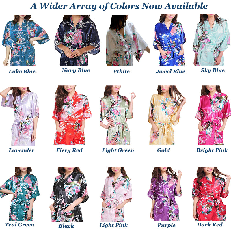 Mid Length Womens Robes, Several Colors, all SKUs