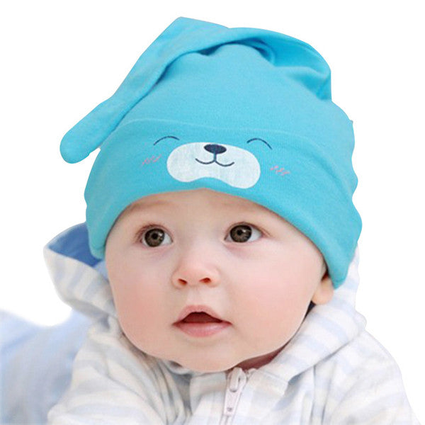 Newborn Baby Blue Kit Hat - Model, Sky Blue