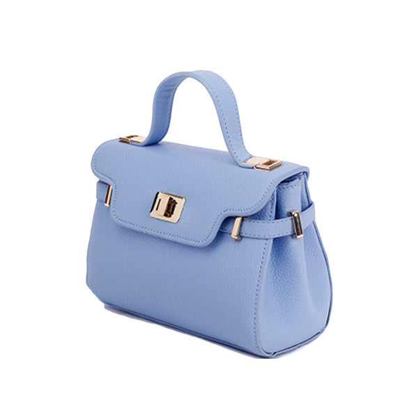 Classic Pale Blue Small Satchel Handbag - Gifts Are Blue
