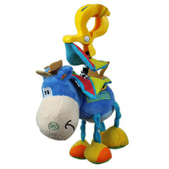 Bed Mobile or Stroller Toy Donkey Rattle for Baby - Gifts Are Blue - 2