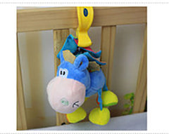 Bed Mobile or Stroller Toy Donkey Rattle for Baby - Gifts Are Blue - 5