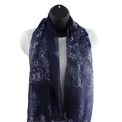 Porcelain Style Blue Women's Scarf - Gifts Are Blue - 1