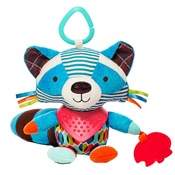 Newborn Baby Plush Animal Toy Rattle for Crib or Stroller - Gifts Are Blue - 5