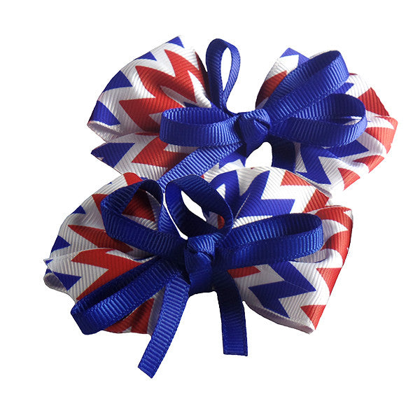Americana Hair Bows for Girls and Teams - Gifts Are Blue - 2