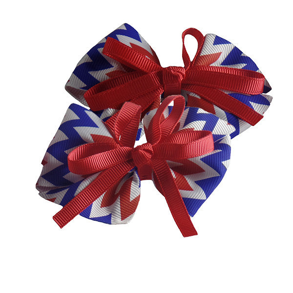 Americana Hair Bows for Girls and Teams - Gifts Are Blue - 1